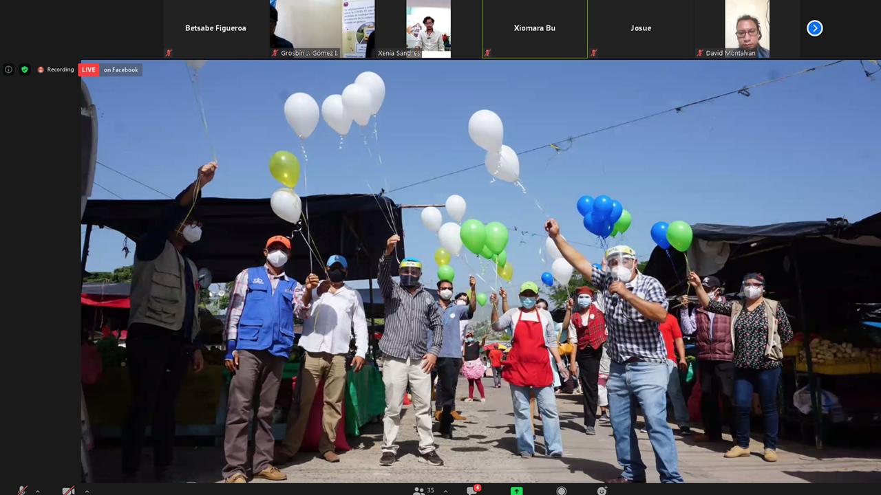 """Lanzamiento del Proyecto """"COVIDMóvil por la Vida, abordaje sistémico bajo el enfoque de derechos."""" de la Asociación Foro Nacional de VIH/Sida con el apoyo de CARE Internacional Honduras"""